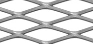 Diamond mesh expanded metal