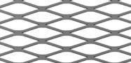Diamond mesh flattened expanded metal
